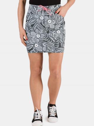 Šedá dámska kvetovaná sukňa SAM 73 dámské sivá S