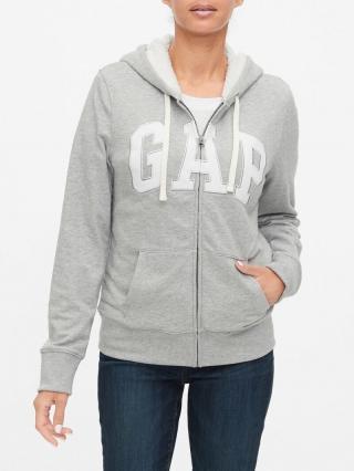 Šedá dámska mikina GAP Logo dámské sivá XXL