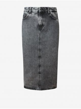 Šedá dámska púzdrová rifľová sukňa Pepe Jeans Piper dámské sivá XS