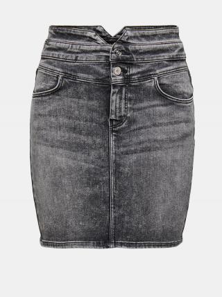 Šedá rifľová púzdrová sukňa ONLY Vienna dámské sivá XL