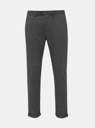 Šedé chino nohavice Jack & Jones Marco pánské sivá S