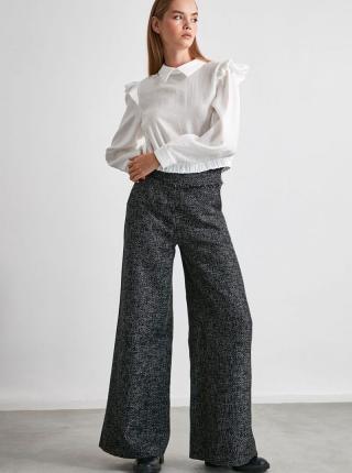 Šedé dámske široké nohavice Trendyol - XS dámské sivá XS