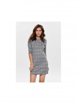Šedé kockované šaty ONLY Brilliant dámské sivá XS