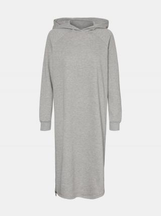 Šedé mikinové šaty Noisy May Helene dámské sivá M