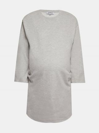 Šedé mikinové tehotenské šaty Dorothy Perkins Maternity dámské sivá M