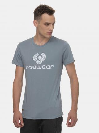 Šedé pánske tričko s potlačou Ragwear Charles - S pánské sivá S