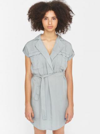 Šedé šaty so zaväzovaním Noisy May Vera dámské sivá XL