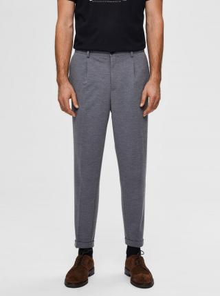 Šedé skrátené nohavice Selected Homme pánské sivá L