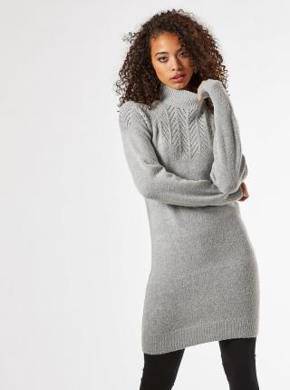 Šedé svetrové šaty Dorothy Perkins Tall dámské sivá XL