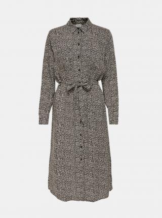 Šedé vzorované košeľové midišaty Jacqueline de Yong dámské sivá XS