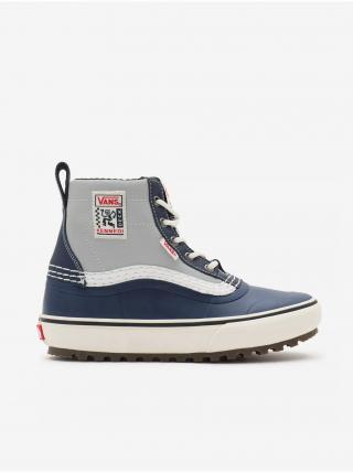Šedo-modré pánske členkové topánky VANS Standard Mid Snow dámské tmavomodrá 39