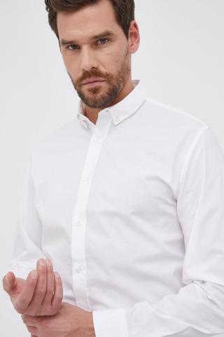 Selected - Bavlnená košeľa pánské biela M