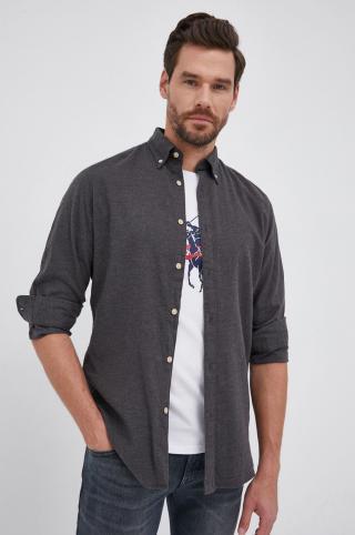 Selected - Bavlnená košeľa pánské sivá S