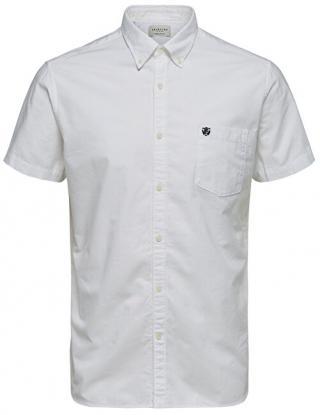 SELECTED HOMME Pánska košeľa Regcollet Shirt Ss W Noos White M