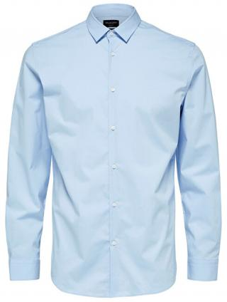 SELECTED HOMME Pánska košeľa Slimpreston-Clean Shirt Ls B Noos Light Blue S