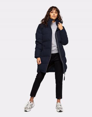 Selfhood Mid-cut Puffer Coat Navy S dámské Modrá S