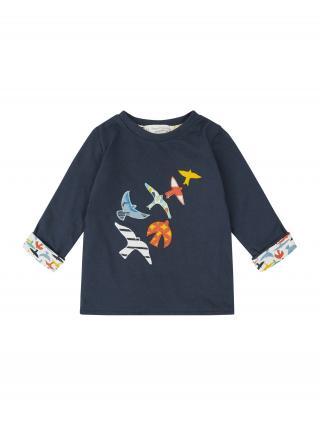 Sense Organics Tričko FELIX  námornícka modrá / biela / kráľovská modrá / mätová / červená pánské 80