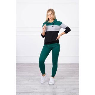 Set with colorful stripes green gray dámské Neurčeno One size