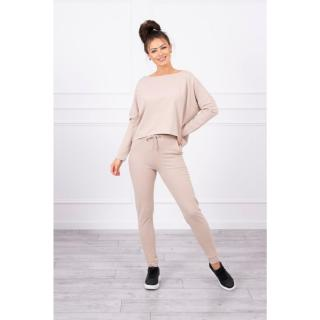 Set with oversized blouse beige dámské Neurčeno One size