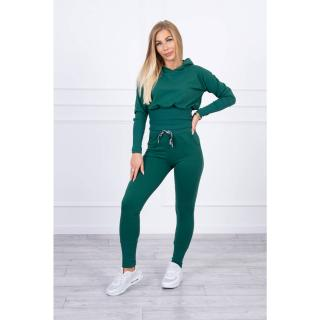Set with wide cuffs green dámské Other One size