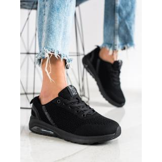SHELOVET BLACK SNEAKERS WITH MESH dámské 39