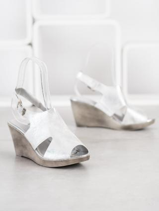 SHELOVET SILVER SANDALS ON THE CO-TURN dámské shades of gray and silver 36