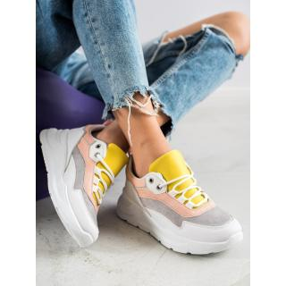 SHELOVET STYLISH LACE-UP SNEAKERS dámské multicolour 36