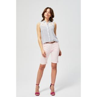 Shorts with a belt - pink Other XS