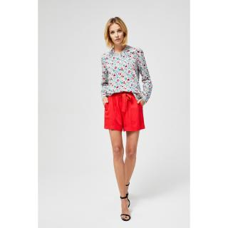 Shorts with a binding - coral dámské Other M