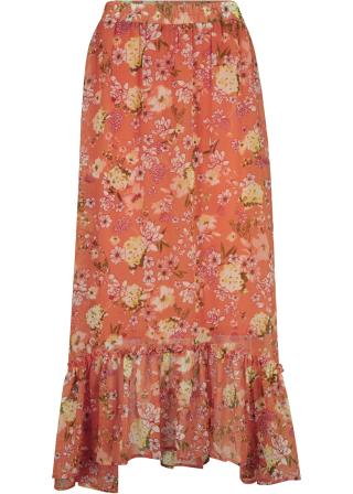 Šifónová sukňa dámské oranžová 42,36,38,40,44,46,48,50,52,54