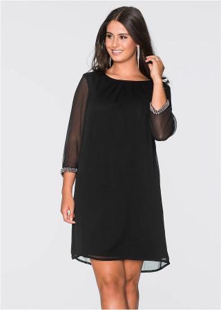 Šifónové šaty dámské čierna 36,38,40,42,44,46,48,50,52,54