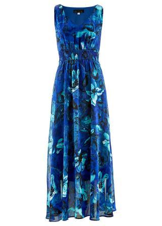 Šifónové šaty dámské modrá 36,38,40,42,44,46,48,50,52,54