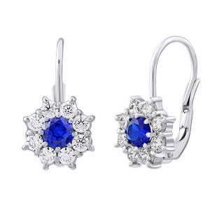 Silvego Krásne strieborné náušnice s modrými zirkónmi SILVEGOB31572B dámské modrá