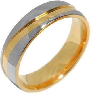 Silvego Snubný oceľový prsteň pre mužov a ženy Mariage RRC2050-M 49 mm