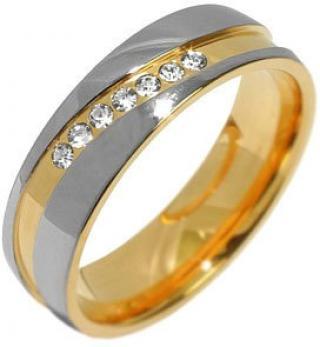 Silvego Snubný oceľový prsteň pre ženy Mariage RRC2050-Z 51 mm dámské