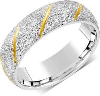 Silvego Snubný prsteň pre mužov aj ženy z ocele RRC22799 53 mm