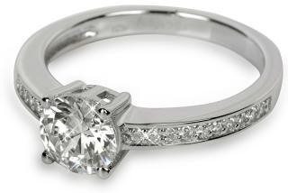 Silver Cat Strieborný prsteň s kryštálmi SC031 52 mm