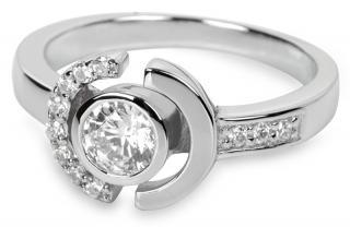 Silver Cat Strieborný prsteň s kryštálmi SC079 52 mm