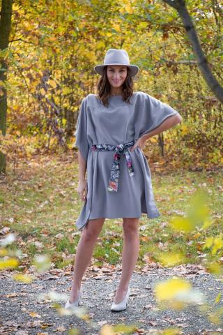 Simpo sivé šaty Waterfall Grey - U dámské sivá U
