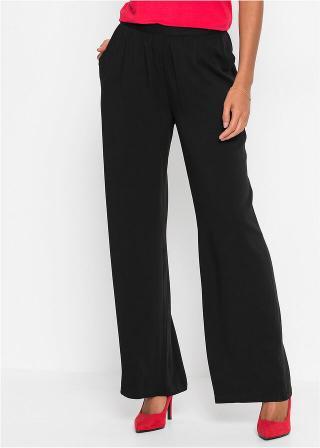 Široké nohavice dámské čierna 34,36,38,40,42,44,46,48,50