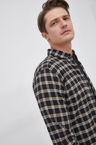 Sisley - Bavlnená košeľa pánské čierna S