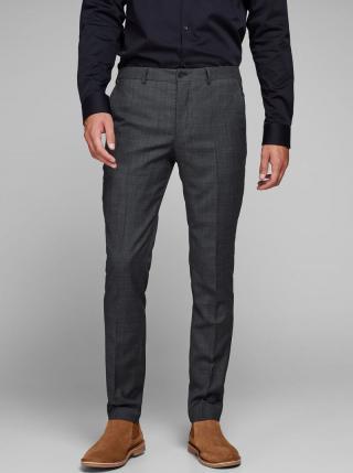 Sivé melírované oblekové nohavice s prímesou vlny Jack & Jones Laris pánské sivá S