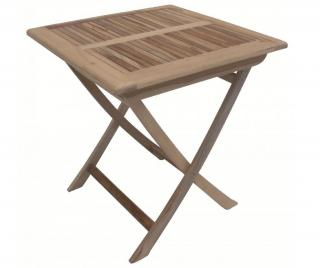 Skladací stôl do exteriéru Java Cubo Hnedá
