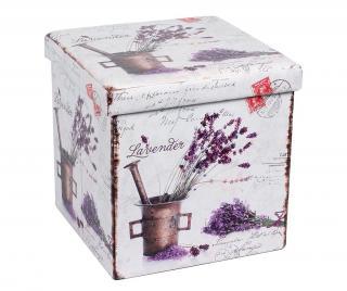 Skladacia taburetka Romantic Lavender Biela