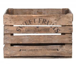 Skladovacia krabica Apple Krémová
