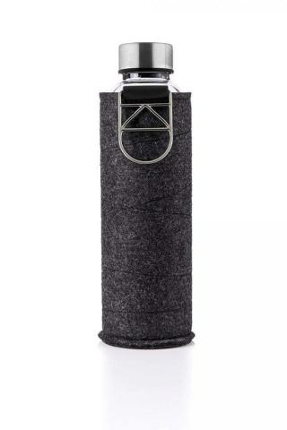 Sklenená fľaša s plsteným obalom EQUA 750 ml strieborná uni