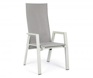 Sklopná vonkajšia stolička Steven Lunar Biela