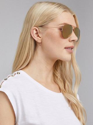 Slnečné okuliare v ružovozlatej farbe Dorothy Perkins bronzová