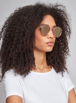 Slnečné okuliare v zlatej farbe Dorothy Perkins zlatá