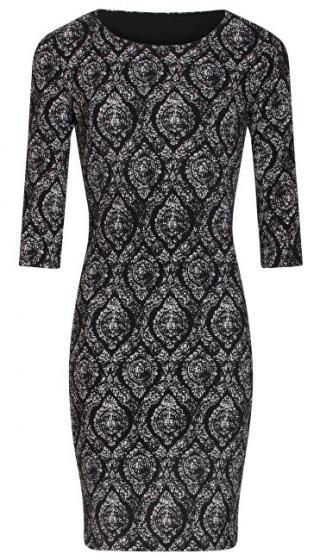 Smashed Lemon Dámske šaty 19506 Black white L dámské